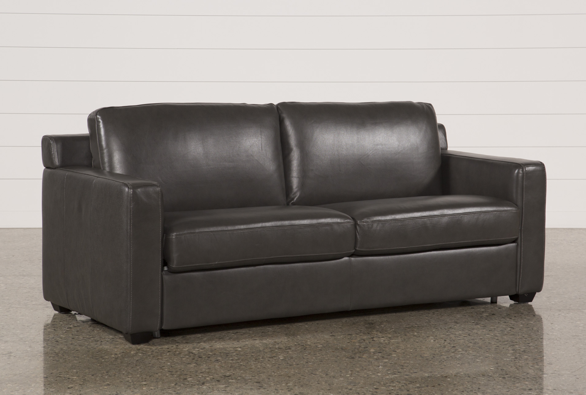 Nolan Leather Dark Grey Sleeper   360