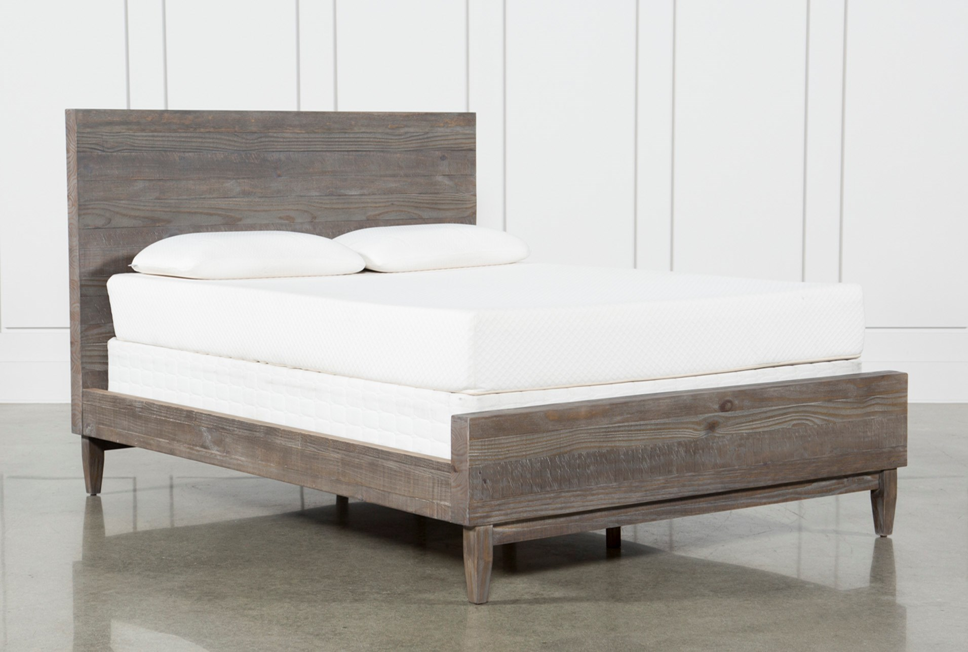 profile queen with low bed furniture no platform nightstands floating storage modern headboard box ashley zen