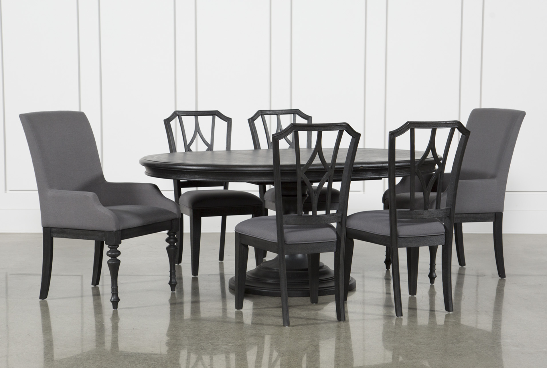 Wonderful Caira Black 7 Piece Dining Set W/Arm Chairs U0026amp; Diamond Back Chairs (Qty:  1) Has Been Successfully Added To Your Cart.