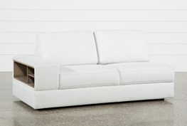 Larimar Stone Left Facing Sofa W/Storage & Usb