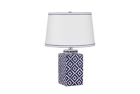 Table Lamp-Indigo Diamonds