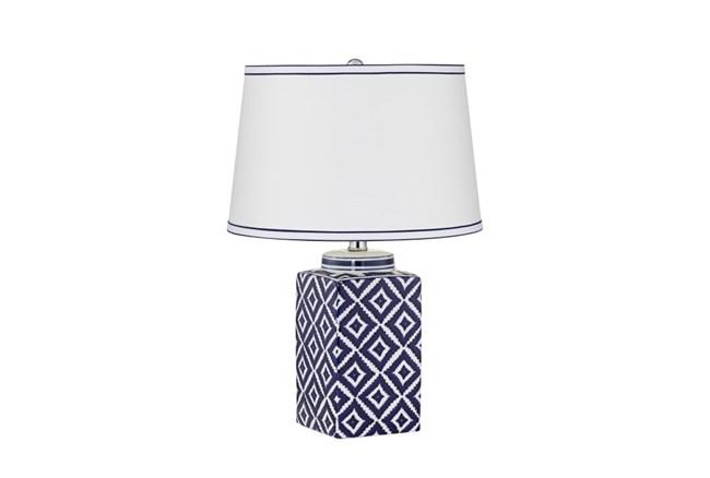 Table Lamp-Indigo Diamonds - 360