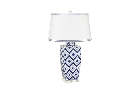 Table Lamp-Indigo Ikat