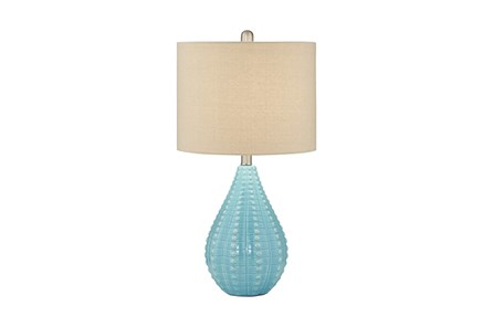 Table Lamp-Aqua Coastal Drop