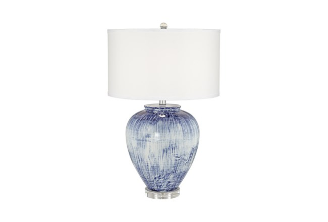 Table Lamp-Blue Wash Bulb - 360