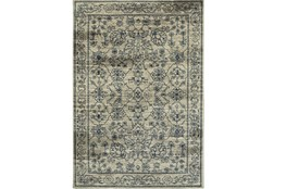 "1'9""x3' Rug-Acanthus Traditional Grey/Navy"