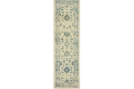 "2'3""x7'5"" Rug-Acanthus Traditional Grey/Navy"