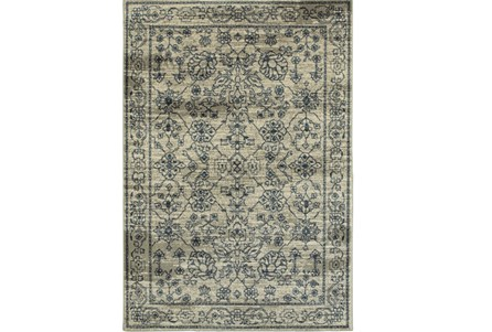46X65 Rug-Acanthus Traditional Grey/Navy