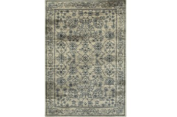 "5'3""x7'5"" Rug-Acanthus Traditional Grey/Navy"