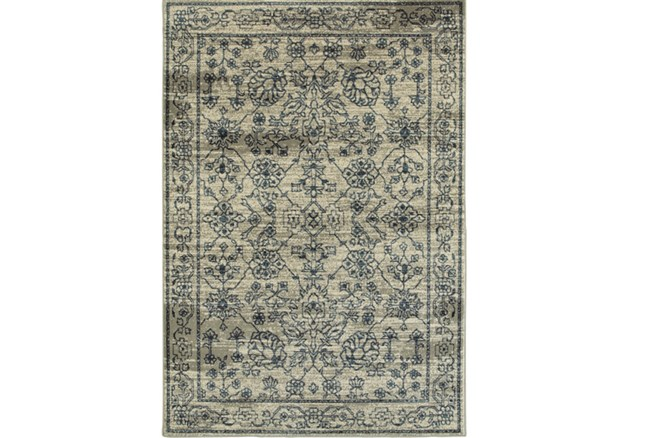 63X90 Rug-Acanthus Traditional Grey/Navy - 360