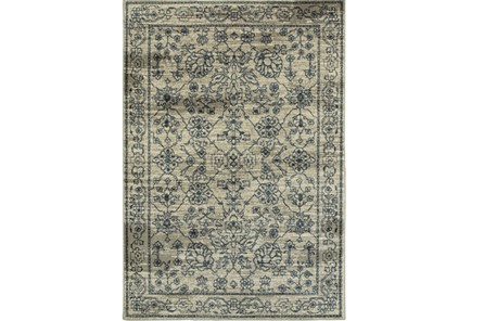 94X130 Rug-Acanthus Traditional Grey/Navy