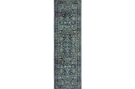 "2'3""x7'5"" Rug-Acanthus Traditional Navy"