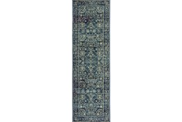 """2'3""""x7'5"""" Rug-Acanthus Traditional Navy"""