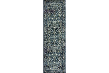 27X90 Rug-Acanthus Traditional Navy