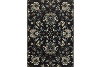 "3'8""x5'4"" Rug-Acanthus Traditional Navy"