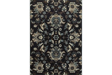 """3'8""""x5'4"""" Rug-Acanthus Traditional Navy"""