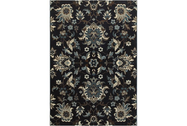 46X65 Rug-Acanthus Traditional Navy - 360