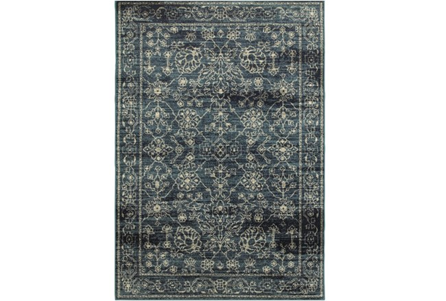 """5'3""""x7'5"""" Rug-Acanthus Traditional Navy - 360"""