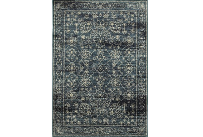 79X114 Rug-Acanthus Traditional Navy - 360