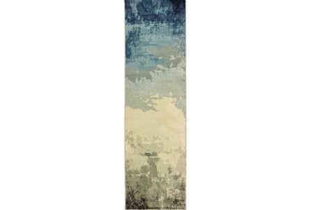 27X90 Rug-Aqua Waves