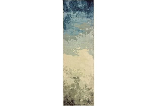 """2'3""""x7'5"""" Rug-Aqua Waves - 360"""