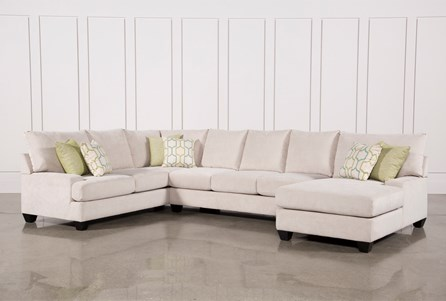 Harper Foam 3 Piece Sectional W/Raf Chaise