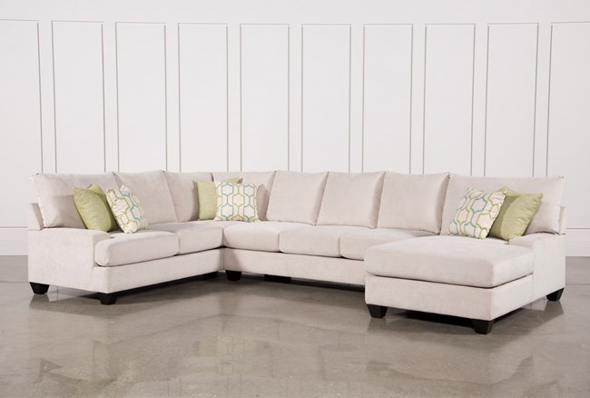 Harper Foam 3 Piece Sectional W/Raf Chaise - 360