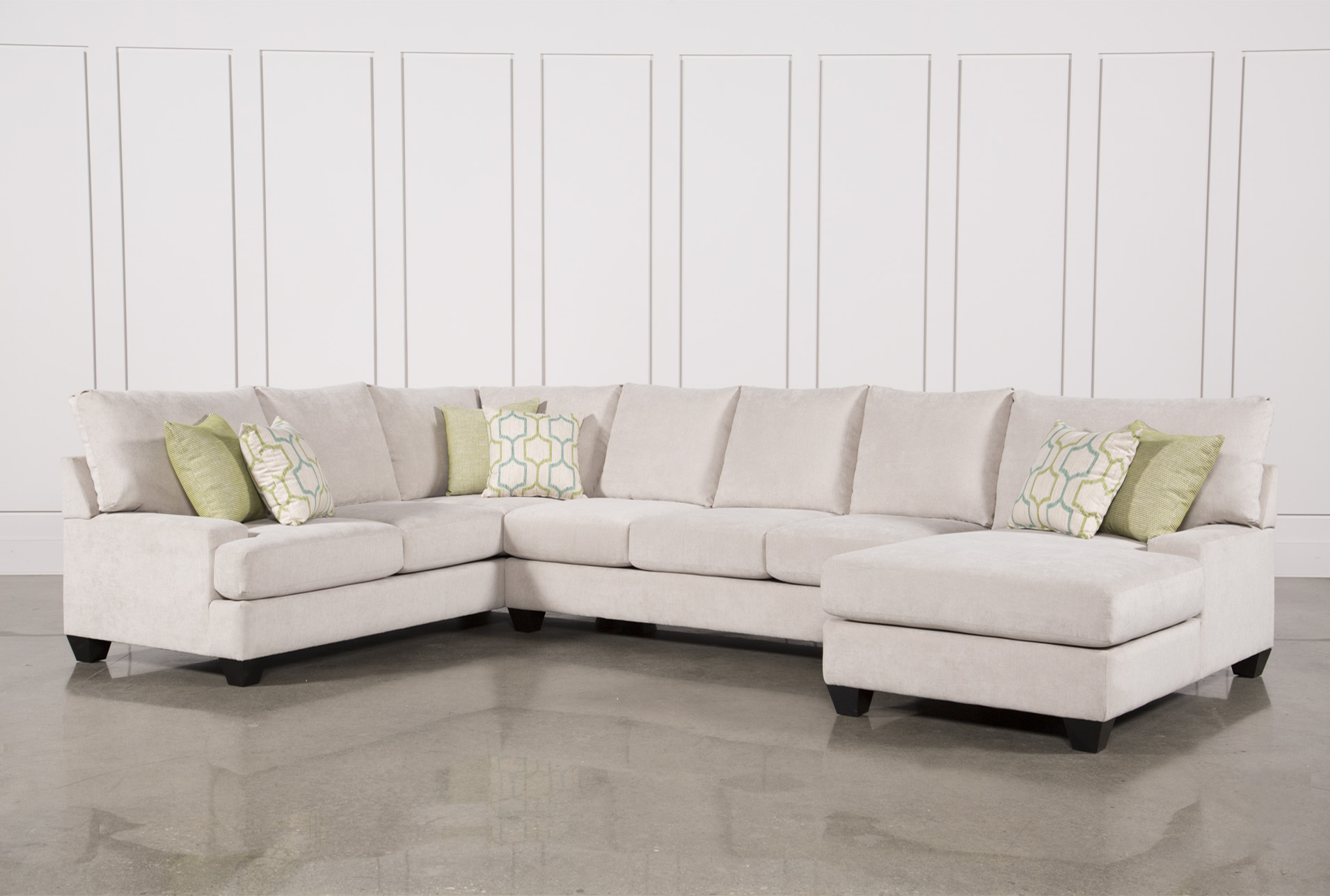 Beau Harper Foam 3 Piece Sectional W/Raf Chaise   360