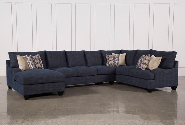 Sierra Down 3 Piece Sectional W/Laf Chaise - 360