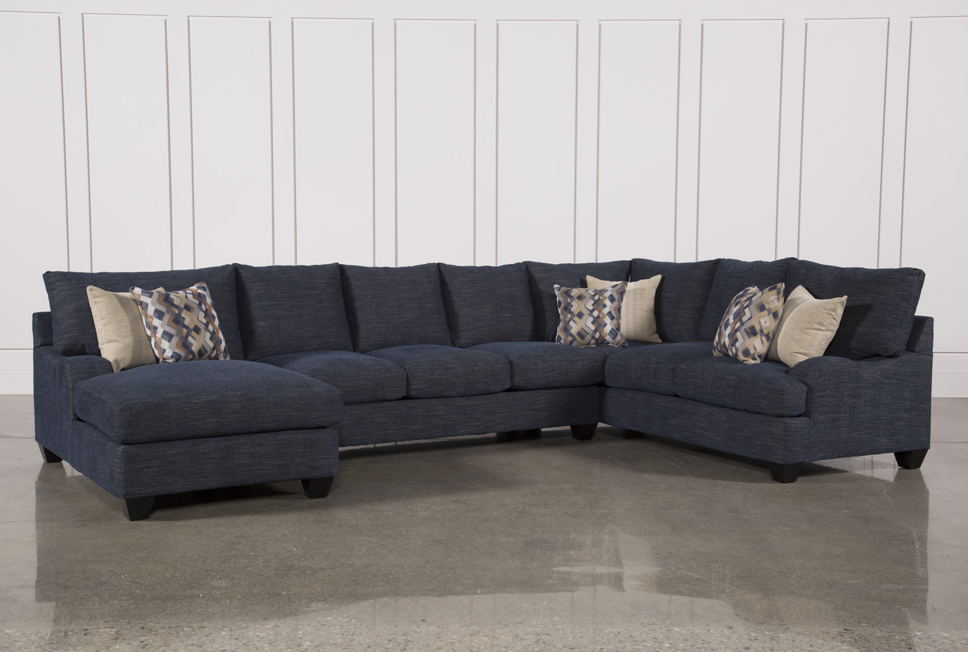 Sierra Down 3 Piece Sectional W/Laf Chaise   360