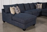 Sierra Down 3 Piece Sectional W/Laf Chaise - Top