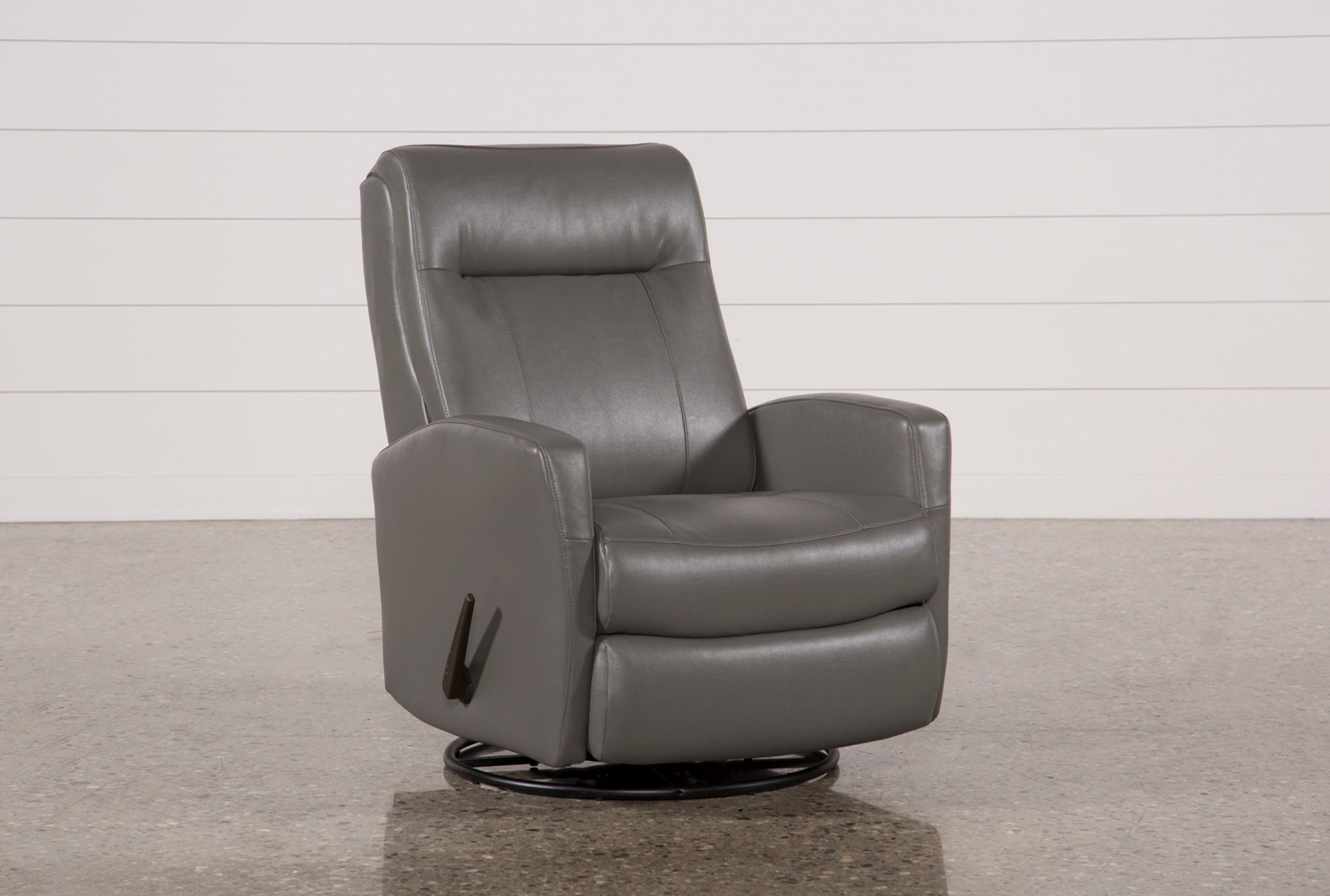 dale iii polyurethane swivel glider recliner living spaces