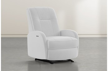 Franco III Grey Fabric Power Wallaway Recliner