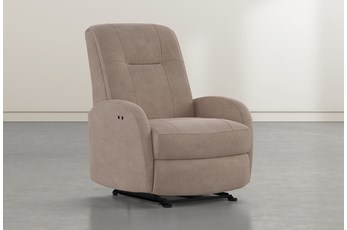 Franco III Putty Fabric Power Wallaway Recliner