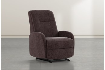 Franco III Coffee Fabric Power Wallaway Recliner
