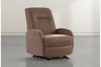 Franco III Brown Fabric Power Wallaway Recliner