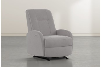 Franco III Ash Fabric Power Wallaway Recliner