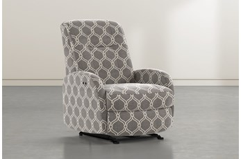 Franco III Dove Fabric Power Wallaway Recliner