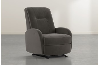 Franco III Dark Grey Fabric Power Wallaway Recliner