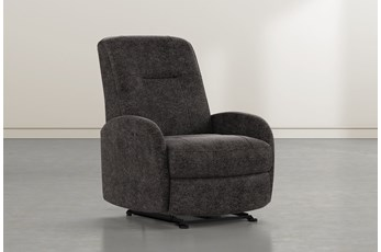 Franco III Midnight Fabric Power Wallaway Recliner