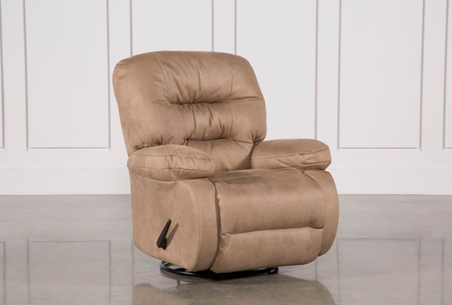 Decker II Fabric Swivel Rocker Recliner - 360