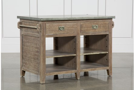 Pine Wood & Stone 51 Inch Kitchen Island - Main