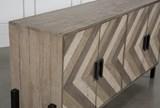 Reclaimed Pine & Iron 4-Door Sideboard - Top