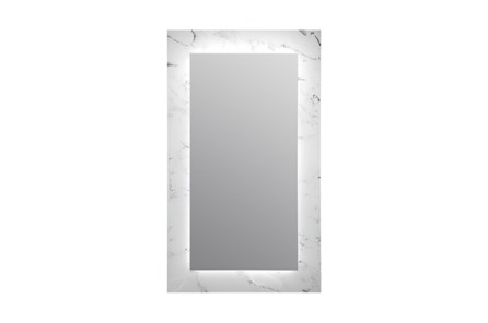Leaner Mirror-Marble Glass 24X40
