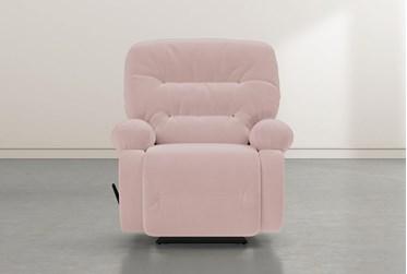 Decker III Pink Rocker Recliner