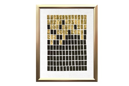 Picture-Black & Gold Brick Collage I 14X18 - Main