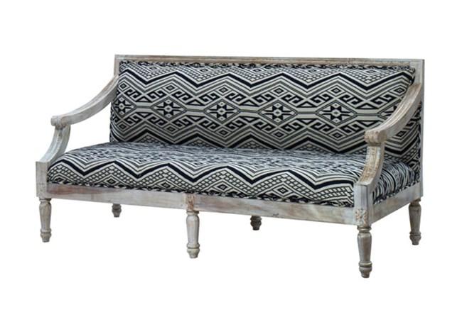 Hand Carved White Wash Sofa - 360