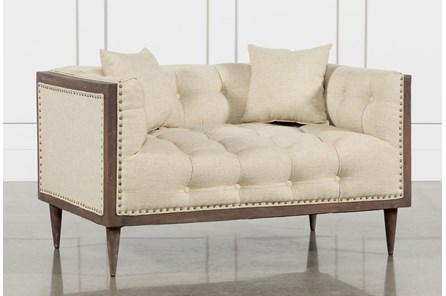Oversized Tufted Chair Beige