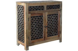 2-Door/2-Drawer Metal Inserts Sideboard