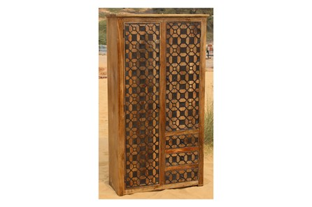 2-Door/3-Drawer Metal Inserts Cabinet